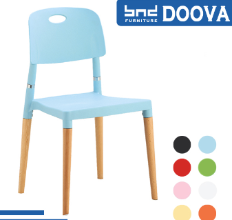 Modern colored plastic chair dining chair