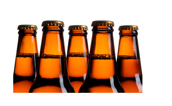 Custom recycled round beer glass bottle crown cap wholesale