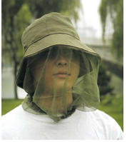 anti-mosquito meshing hat