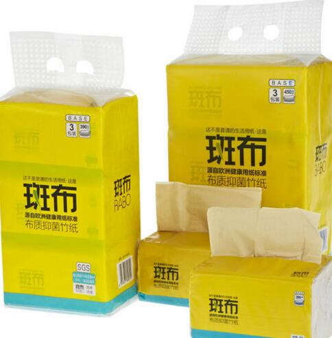 100% virgin bamboo facial tissue OEM