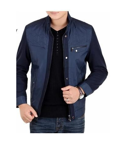 2015 spring and autumn Jacket Mens summer thin size collar middle-aged men's casual jacket