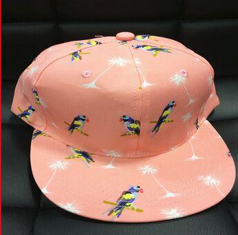 100% cotton birdie navy blue snapback hat
