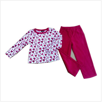 Printed polar fleece pajamas
