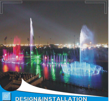 Customized International Interactive Musical Water Fountain