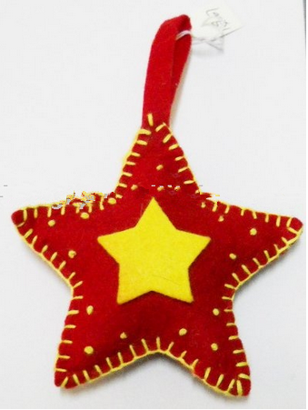 handmade wool Felt Stars for christmas decoration