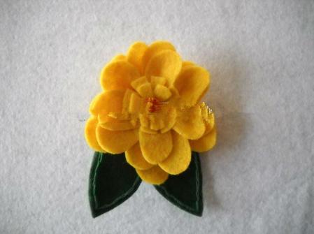 Handmade Felt Hair Flower Christmas decoration