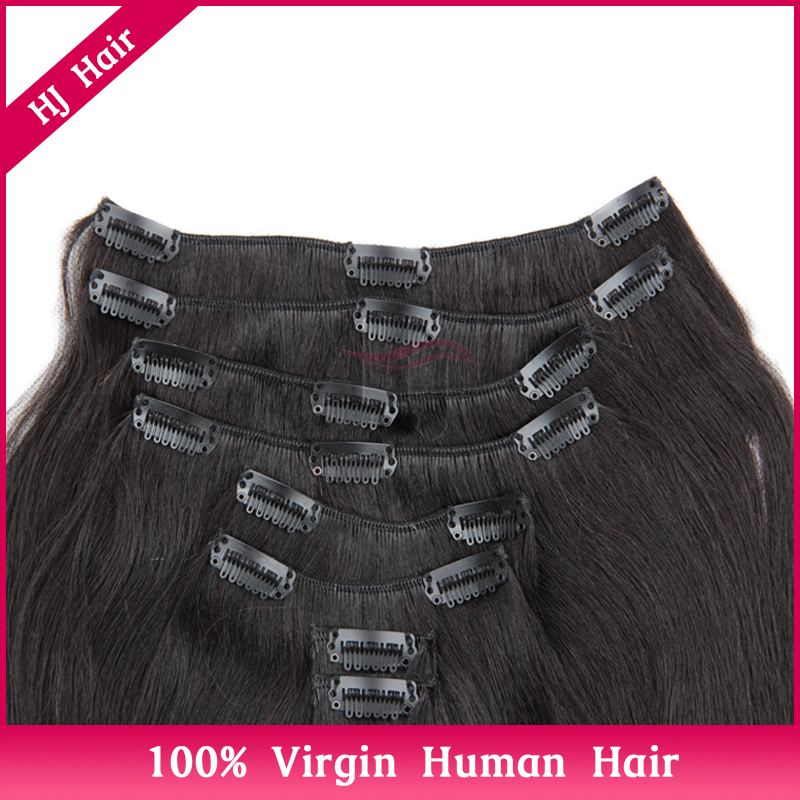 Top Quality Brazilian Virgin Hair Clip In Hair Extensions Free Sample,Yaki Straight Clip In Hair Extensions YC80