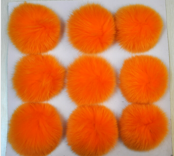 Genuine Fashion fox fur pom poms /balls for keychain ,garment