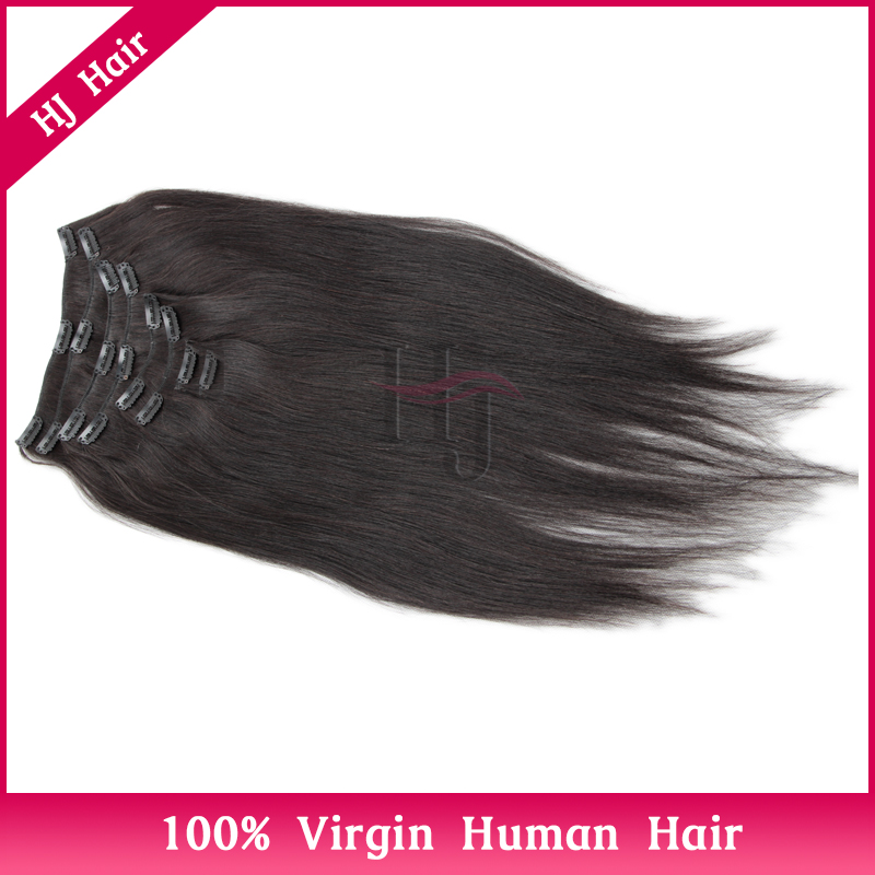 Brazilian Virgin Hair Clip In Hair Extensions Free Sample,Yaki Straight Clip In Hair Extensions YC77