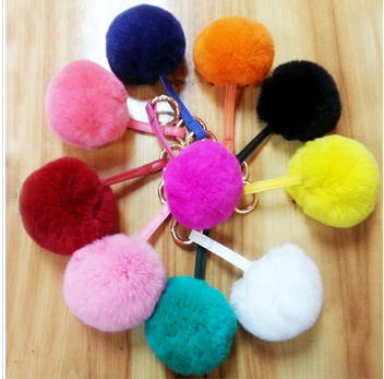 Natural genuine fox fur pom poms /balls for decoration