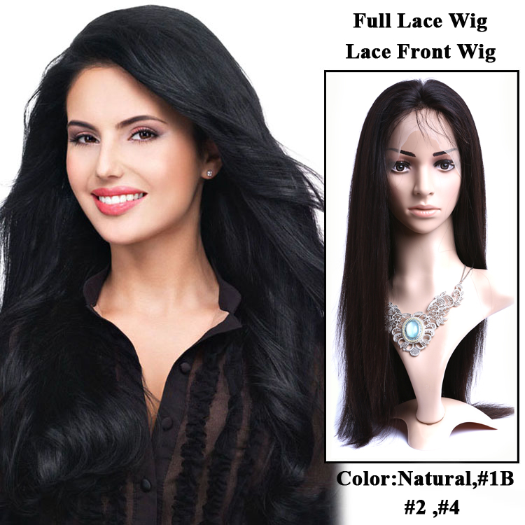 2015 Natural Looking Beauty Virgin Brazilian Human Hair Jewish Full Lace Wig With Baby Hair For Black Women Lace Front Wigs YF30