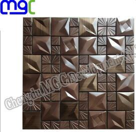metal mosaic - 3D aluminium mosaic
