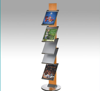movable stand magazine display shelving