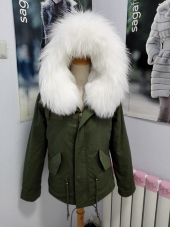 parka jacket with real fur hood trim