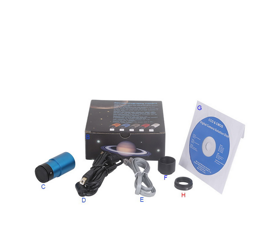 SC-Gcoms 1.25 interface USB2.0 Long exposure digital astronomical telescope eyepiece camera