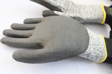 Work glove PU cut resistant gloves 13 guage glove dipped in Polyurethane