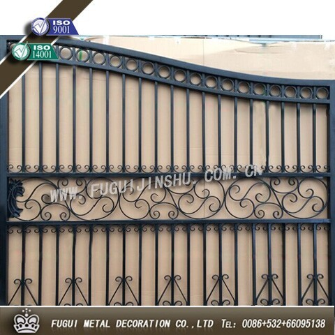 HDG sliding main house wrought iron grill gate (Factory Directly)