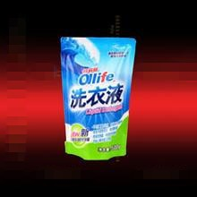 customed durable affordable plastic laundry detergent bag with zipper