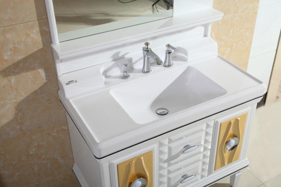 Modern minimalist vanity PVC floor bathroom cabinets