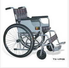 Vany painted steel wheel chair with Oxford cloth