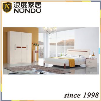 Fashion home furniture design bedroom set MDF bed 5206