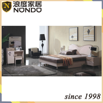 New modern bedroom sets panel bed 7801