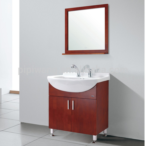 modern red bathroom cabinet solid wood bathroom vanity pipiwang 718mm
