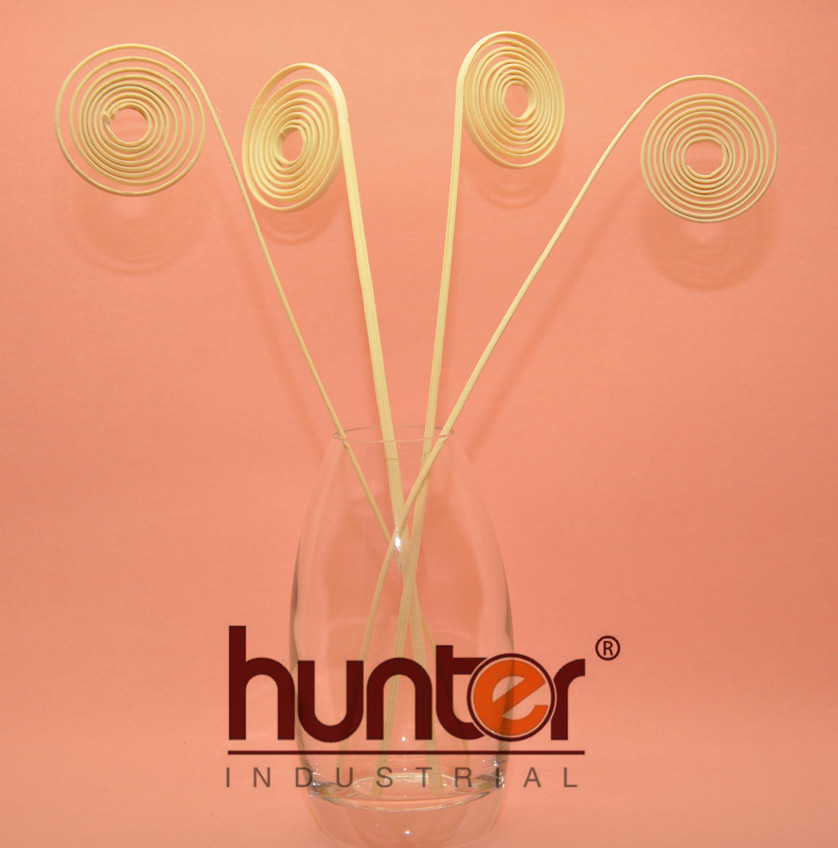 Eco-friendly curly coil Indonesia rattan reed stick