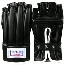 2015 hot sale Semi fingerless heavy bag glove artificial leather boxing punching bag glove