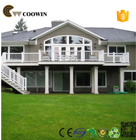 Modern house design WPC material wood cladding