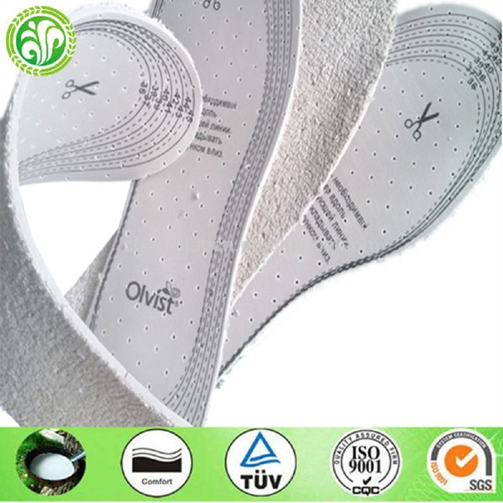 Buff Shoe Material White Cotton Memory Foam Insole for Man and Woman Shoe