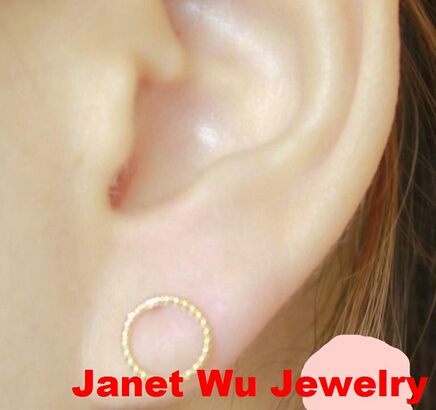 Fashion Women Jewelrys Earrings Hot Simple Brass Circle Earrings