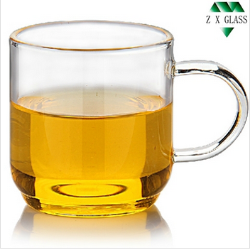 120ml borosilicate glass tea cup / glass tea mug with handle /glass taste tea cup /glass teaste tea mug /small glass tea cup