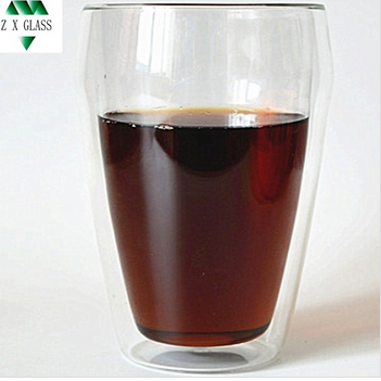 Brosilicate Double wall glass espresso coffee cup /double wall glass tea cup /double wall glass thermos cup 330ml