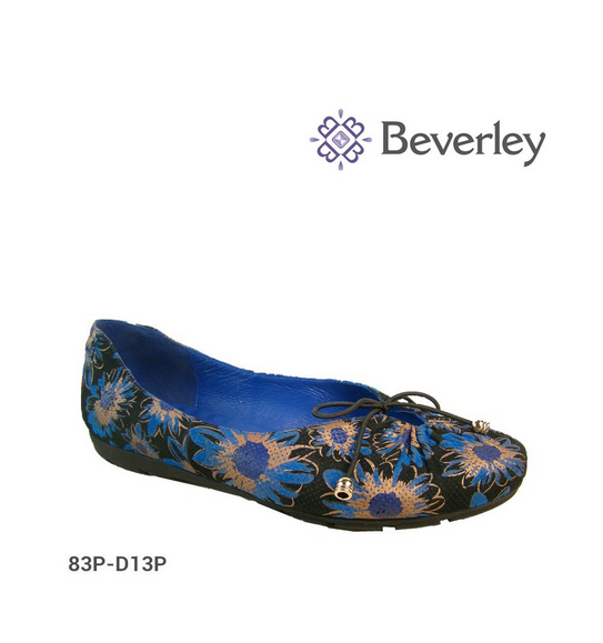 Printing Flower Pattern Leather Flat Shoes for Women