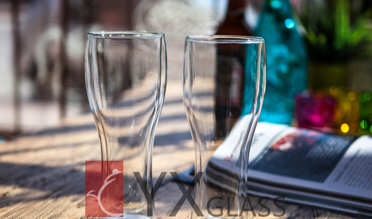 Germany's double wheat beer handblown, high borosilicate double wall glass cup