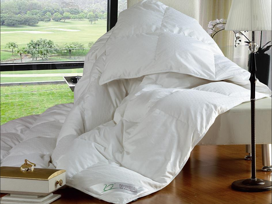 luxury bos baffle 90% white duck down duvet