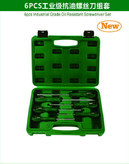 6pcs Industrial Grade Oil Resistant Screwdriver Set