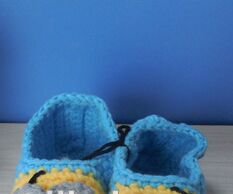 Crochet Baby prewalker toddler shoes