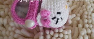 Crochet Baby Boots, baby shoes, crochet sneakers