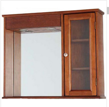 Wall mounted bathroom furniture(BZIT011)New design Class bathroom cabinet