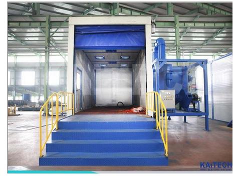 Shandong kaitai Brand Shot blast room/Sand blast booth