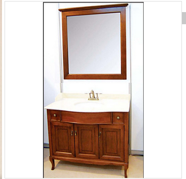 Solid wood bathroom furniture (BZ60) Long service life antique bathroom vanity