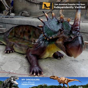 MY Dino-S28 Outdoor dinosaur park fiberglass dinosaur chair