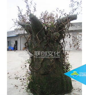 High simulation adventure park life size artificial talking tree