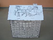 hand-printed house, DIY house
