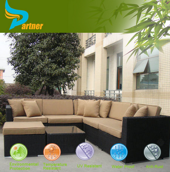 Garden Sectional Rattan Corner Sofa/Lounge Rattan Furniture/ Cheap Outdoor Wicker Furniture Rattan Sofa
