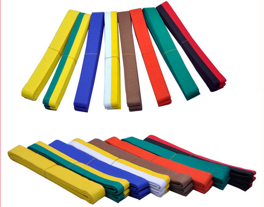 Colorful Teakwondo equipment takwondo belt colors for sale