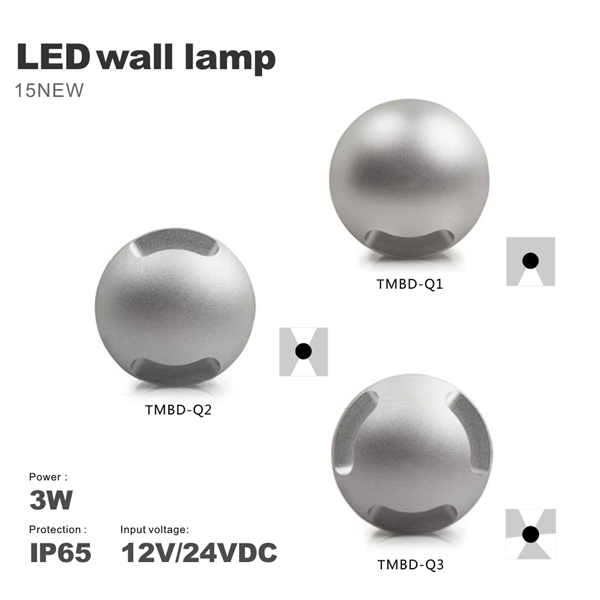 Modern Outdoor Indoor Waterproof 3W Wall Lamp