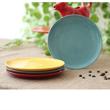 2015 New design colorful ceramic plates,beautiful ceramic plates for whotesale